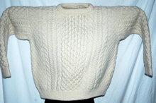 John Molloy of Donegal Ireland Hand Knit Irish Fisherman Sweater size Med.