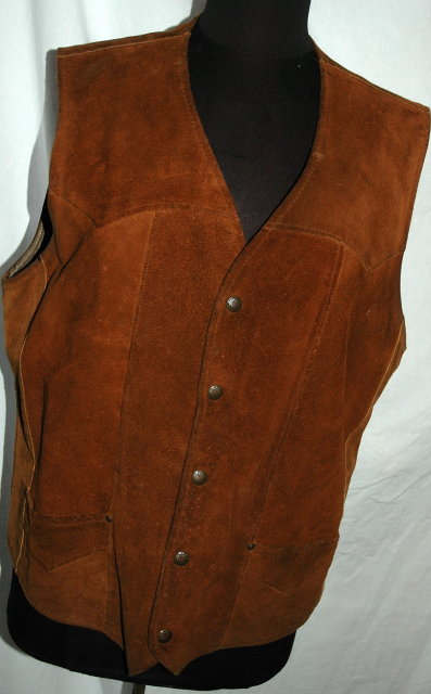 Vintage Pioneer Wear Leather Suede Vest. size 44