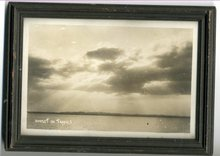 Black White  Sepia Tone Sunset in Tropics Photo in Frame