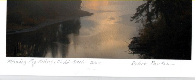 Morning Fog Rising, Judd Creek 2007 Photograph, Debra Paulson