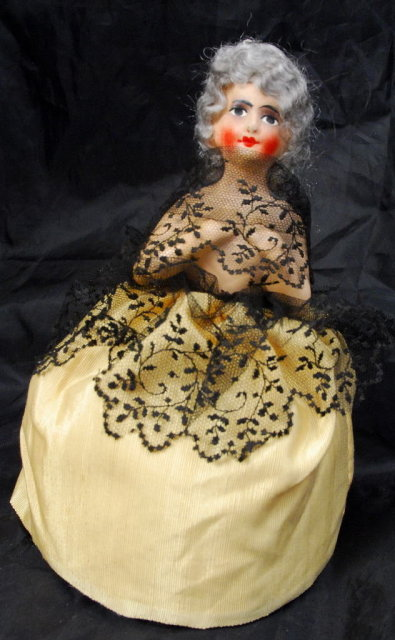 Bisque 1/2 Doll Pin Cushion