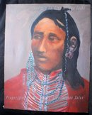 Native American Brave Oil Painting on Canvas