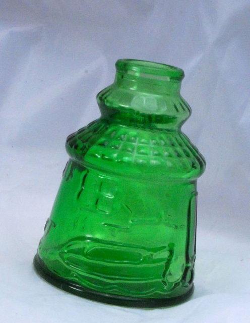 Green Glass Bitters Bottle, Cape May, Weaton N.J.