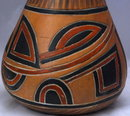 Hand Made Mexican  Gourd Pottery  Vase PRICE REDUCTION!