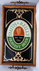 Smith & Reilly  Honest Beer Tray, Glass & Wood..RARE  **PRICE REDUCED**!!