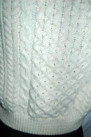 Lovely Traditional 100% Hand-knit Irish Fisherman's Clan Sweater made in Ireland by  Carraig Donn Ireland