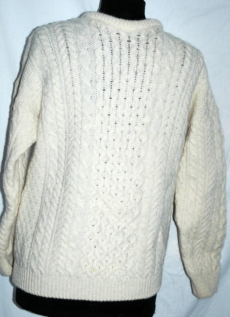 Lovely Traditional 100% Hand-knit Irish Fisherman's Clan Sweater made in Ireland by  ADIRONDACK by Savice Row