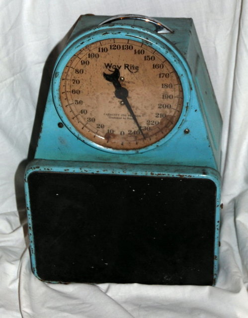 Antique Bathroom Scale Way Rite