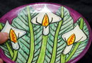 Talavera Calla Lily  Mexican Pottery, Hand Painted & Signed T. Ruth of  Mexico