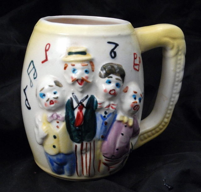 Naughty Nude Surprise  Beer Mug / Stein  BARBERSHOP QUARTET