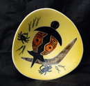 Studio Anna Aboriginal Turtle, Crab  Dish RETRO  Australian pottery.