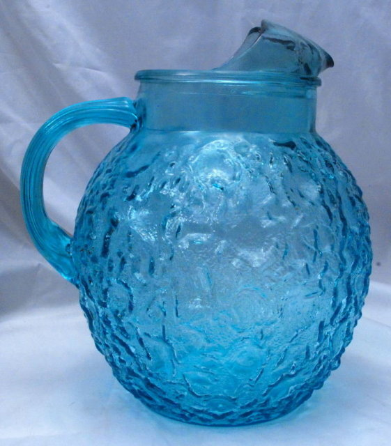Anchor Hocking Lido, Soreno Lazor Blue Ball Pitcher