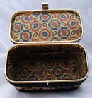 Vintage 60's Julius Resnick  JR Florida Needlepoint Box Purse with Lucite Handle