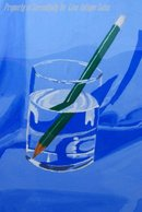 Still Life  Painting, Pencil in Glass of Water by Kathryn Russell * PRICED REDUCED! **