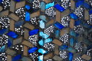 Stained Glass Mosaic  Basket Weave Pattern Platter, Plate * PRICED REDUCED! **