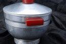 Art Deco Aluminum Ice Bucket with Bakelite Handles