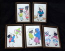 Betanzos Art Mexico Mexican  Children  Vintage Post Card in Frames