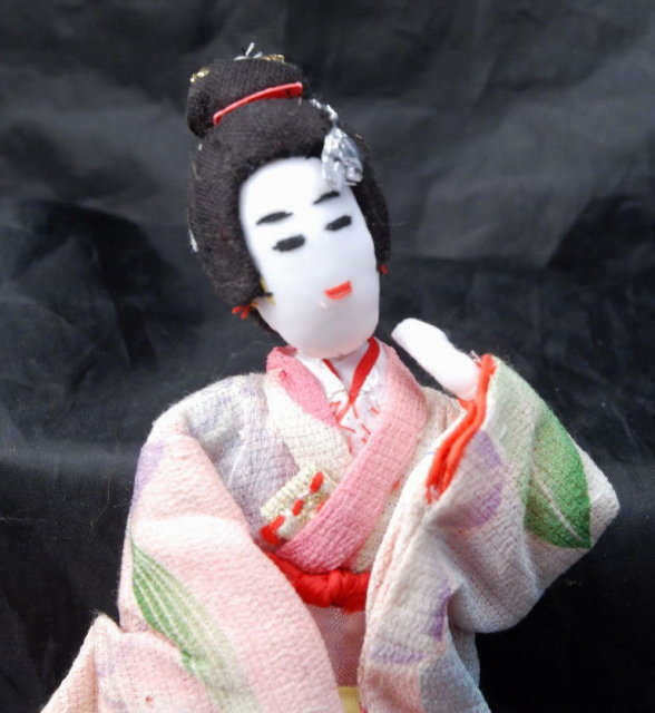 Hand Made Japanese Geisha Cloth Doll