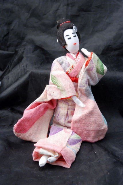 Hand Made Japanese Geisha Cloth Doll