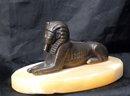 Old Brass Sphinx  Alabaster Souvenir of the Republic  Arabic Egypt