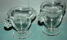 Elegant Glass Ware Cream & Sugar Set