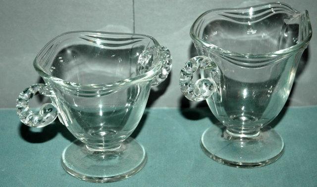 Elegant Glass Ware Cream & Sugar Set