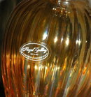 Royal Gallery Italian  Amber Luster Glass Vase