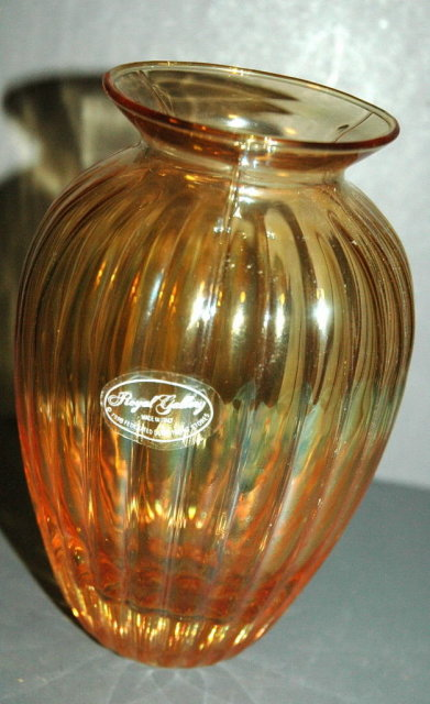 Royal Gallery Italian  Amber Luster Glass Vase