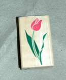 TRULY TULIP RUBBER STAMPEDE STAMP POSH IMPRESSIONS