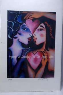 Brandi Fairbanks,  Women/ Heart Print, signed * PRICED REDUCED! **