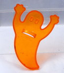 Halloween Ghost Shaped Orange Plastic Amscan Cookie Cutter