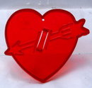 Vintage Red Plastic HRM  Heart with Arrow Cookie Cutter  Valentine