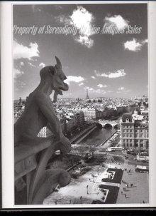 Gargoyle at Notre Dame Paris  with Eiffel Tower View   Black White Photograph , Art Photography