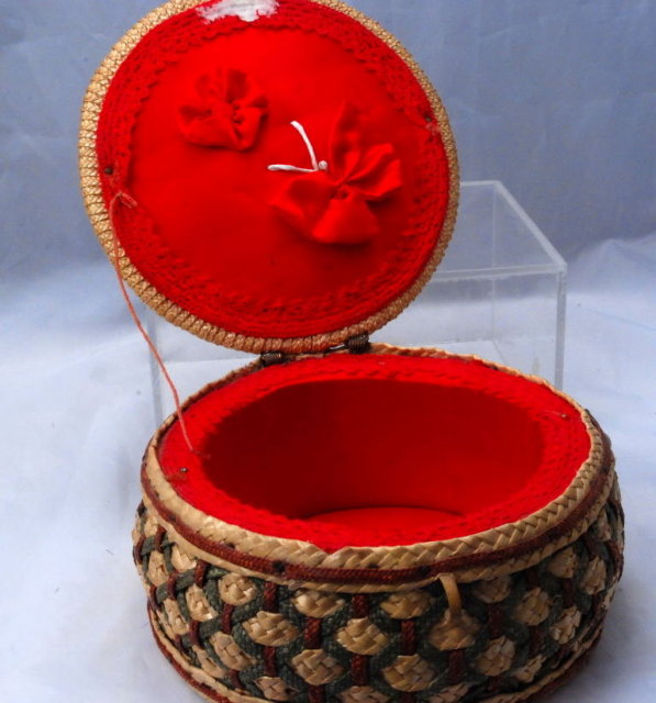 Small Woven Sewing  - Button Basket