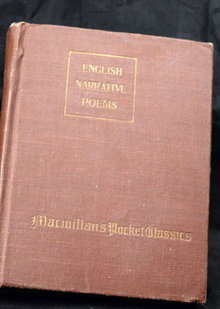 Macmillan's Pocket Classics, English Narrataive Poems  1909