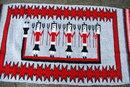 Old Navajo Hand Woven Yei Rug  56