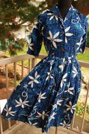 Alfred Shaheen Hawaiian Print Dress Authentic Vintage 1950's   size 10