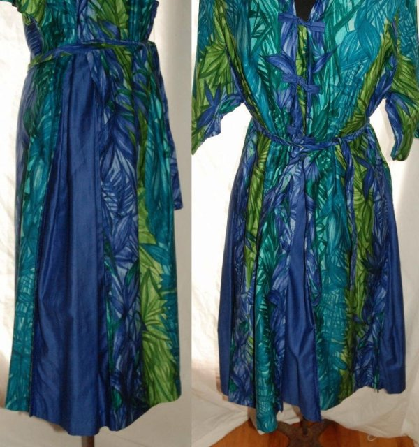 Kamehameha Vintage Hawaiian Shirt Style  Dress 1950's