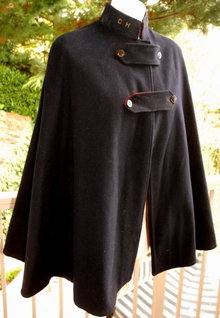 Vintage   Nurses Cape Navy Blue Wool   Pre WWII
