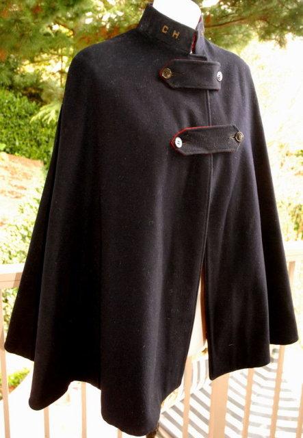Vintage   Nurses Cape Navy Blue Wool   Pre WWII