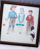 Norman Rockwell framed  print