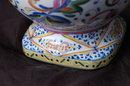 Large European Talavera Pottery Porcelain  Ewer Hand painted brilliant colors