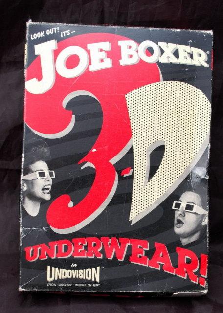 New Old Stock Joe Boxer 3-D underwear in box size Med