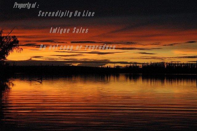Original Photo  Sunset at Watson Lake  Yukon Territory , signed