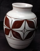 Pohaku Kiln Pottery Vase, Hand Painted in Hawaii * PRICED REDUCED! **