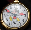 Disney Bradley Mickey Mouse Conductor Collectable Pocket Watch