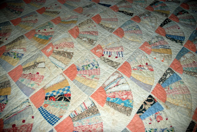Quilt Pattern For Grandmother S Fan : Antiques, Art, Vintage