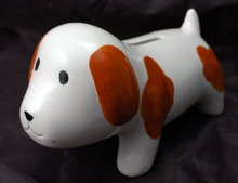 Ceramic Puppy Dog Bank