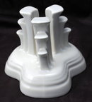 Fiesta Ware Tripod Candlestick Holder - White