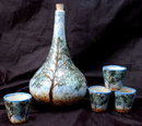 Hand painted Porcelain Sake Set